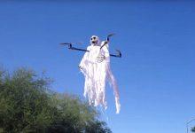"""美无人机爱好者制造""""空中幽灵"""" 只为吓唬熊孩子-轻语博客"""